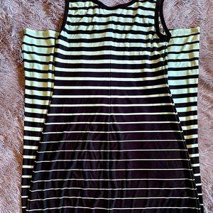 🌿Roz & Ali Black/teal Ombré maxi dress size 8